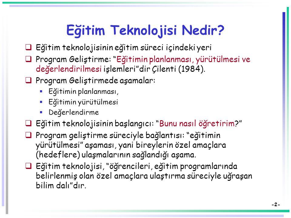 Öğretim Teknolojileri ve Materyal Tasarımı Temel Kavramlar Dr.