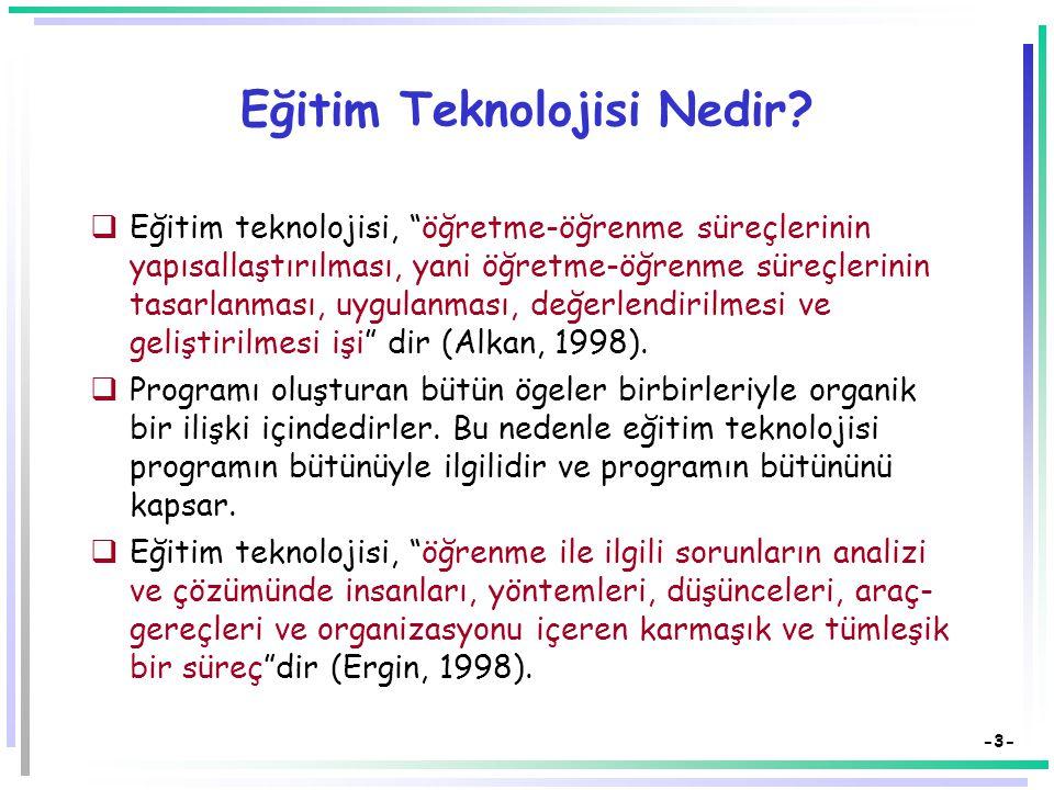 -2- Eğitim Teknolojisi Nedir.