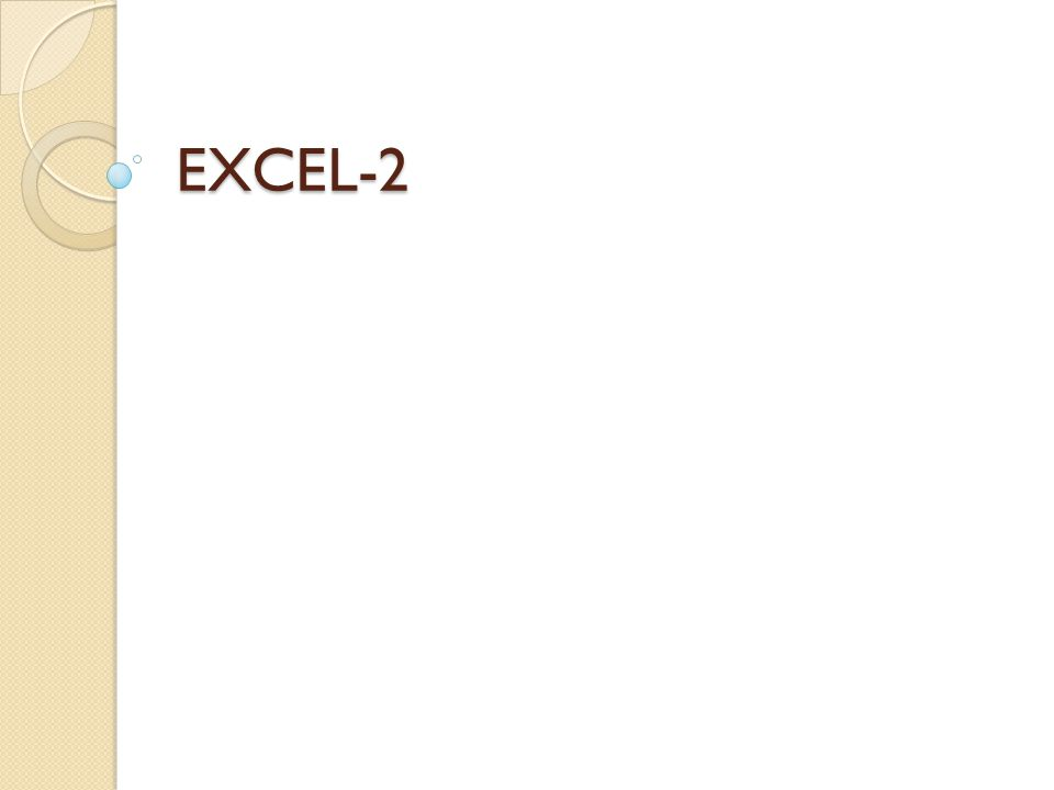 EXCEL-2
