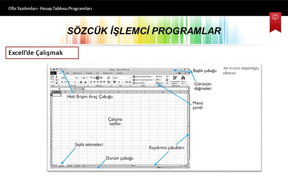 HESAP TABLOSU PROGRAMLARI Ofis Yazılımları- Hesap Tablosu Programları Hesap tablosu programlarıyla, veriler tablo ya da liste olarak tutulup bu verile