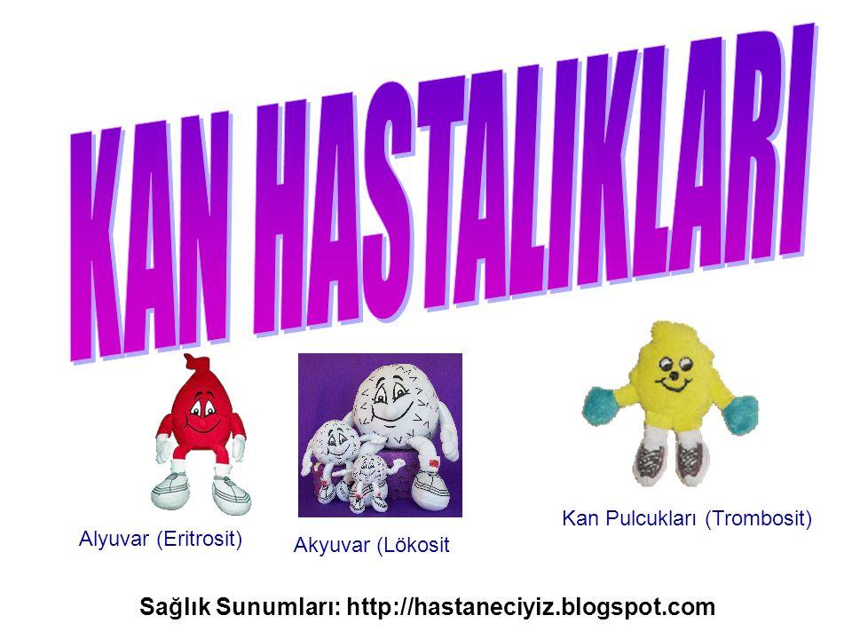 Alyuvar (Eritrosit) Akyuvar (Lökosit Kan Pulcukları (Trombosit) Sağlık Sunumları: http://hastaneciyiz.blogspot.com