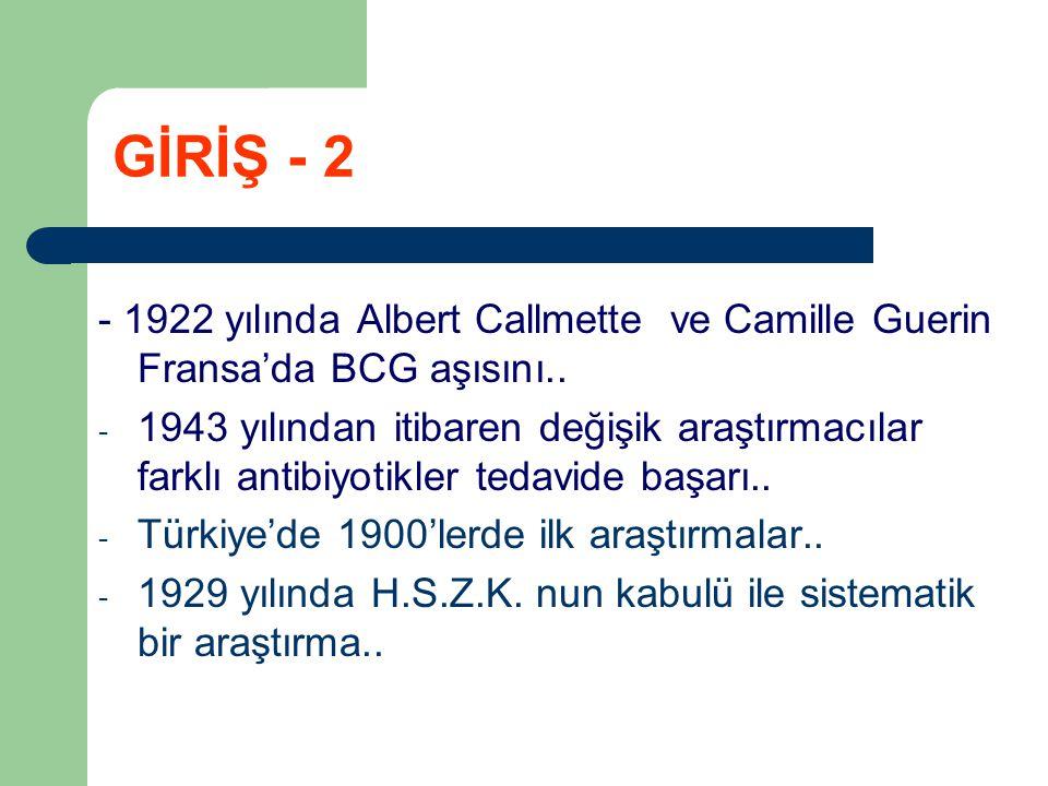 - Etken Mycobecterium bovis..- Gram pozitif, asidorezistans, aerobik..