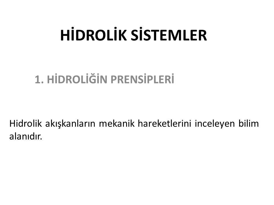 HİDROLİK SİSTEMLER 1.