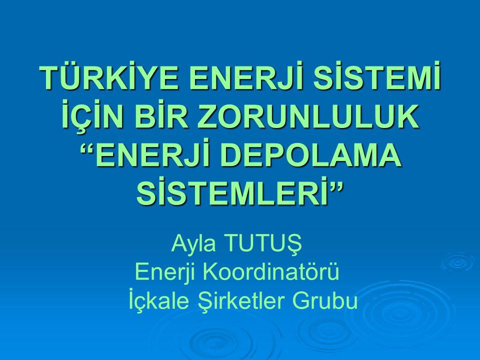 """TÜRKİYE ENERJİ SİSTEMİ İÇİN BİR ZORUNLULUK """"ENERJİ DEPOLAMA SİSTEMLERİ"""" Ayla TUTUŞ Enerji Koordinatörü İçkale Şirketler Grubu"""