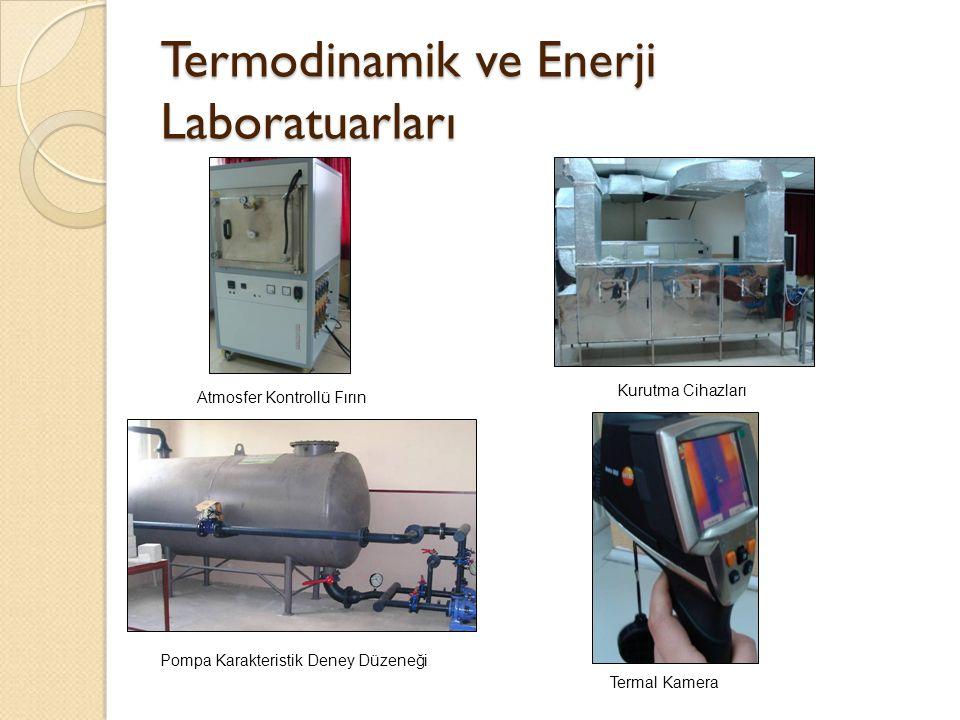 Termodinamik ve Enerji Laboratuarları Atmosfer Kontrollü Fırın Kurutma Cihazları Termal Kamera Pompa Karakteristik Deney Düzeneği