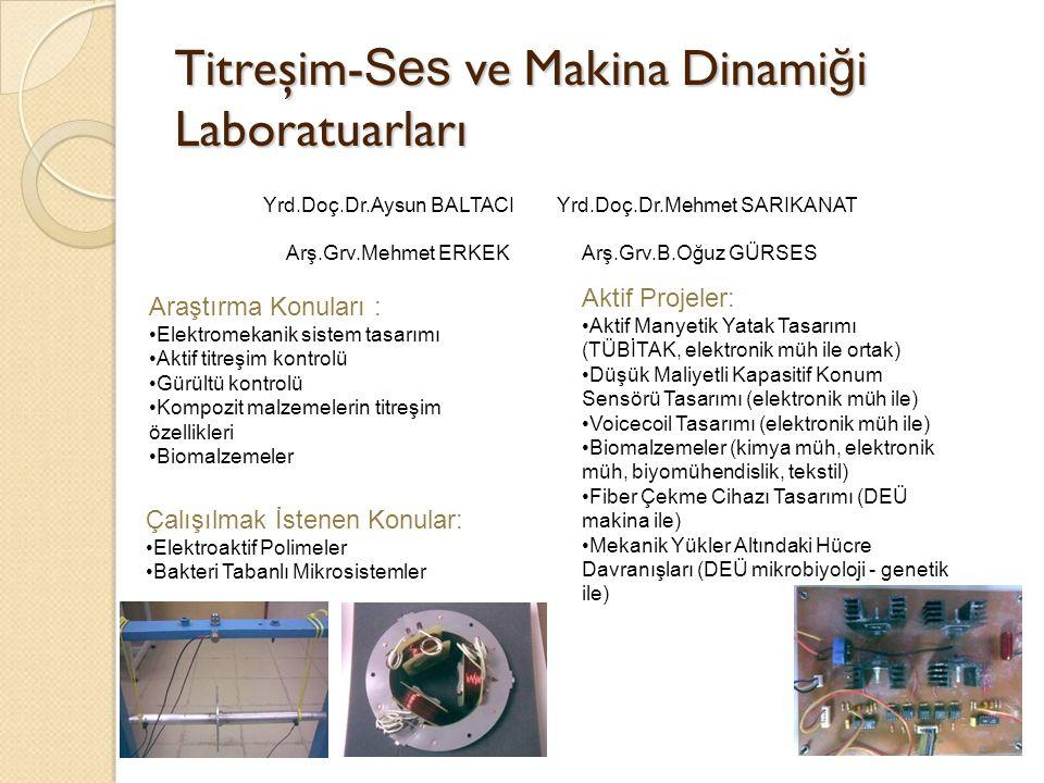 Titreşim- Ses ve Makina Dinami ğ i Laboratuarları FPGA Tabanlı Veritoplama/Kontrol Kartı Norsonic Gürültü Ölçüm Cihazı 1.5 MHz.