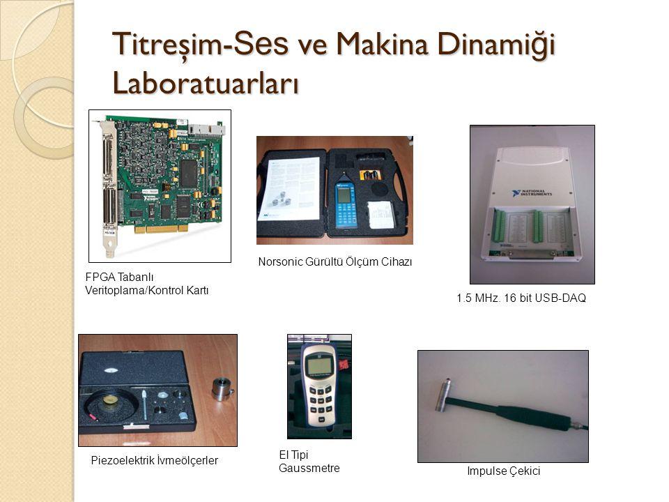 Titreşim- Ses ve Makina Dinami ğ i Laboratuarları FPGA Tabanlı Veritoplama/Kontrol Kartı Norsonic Gürültü Ölçüm Cihazı 1.5 MHz. 16 bit USB-DAQ Piezoel