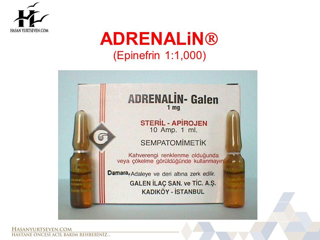 AMİODARON Uygulama: Erişkin:  VF ve nabızsız VT'de 300 mg İV/İO verilir.
