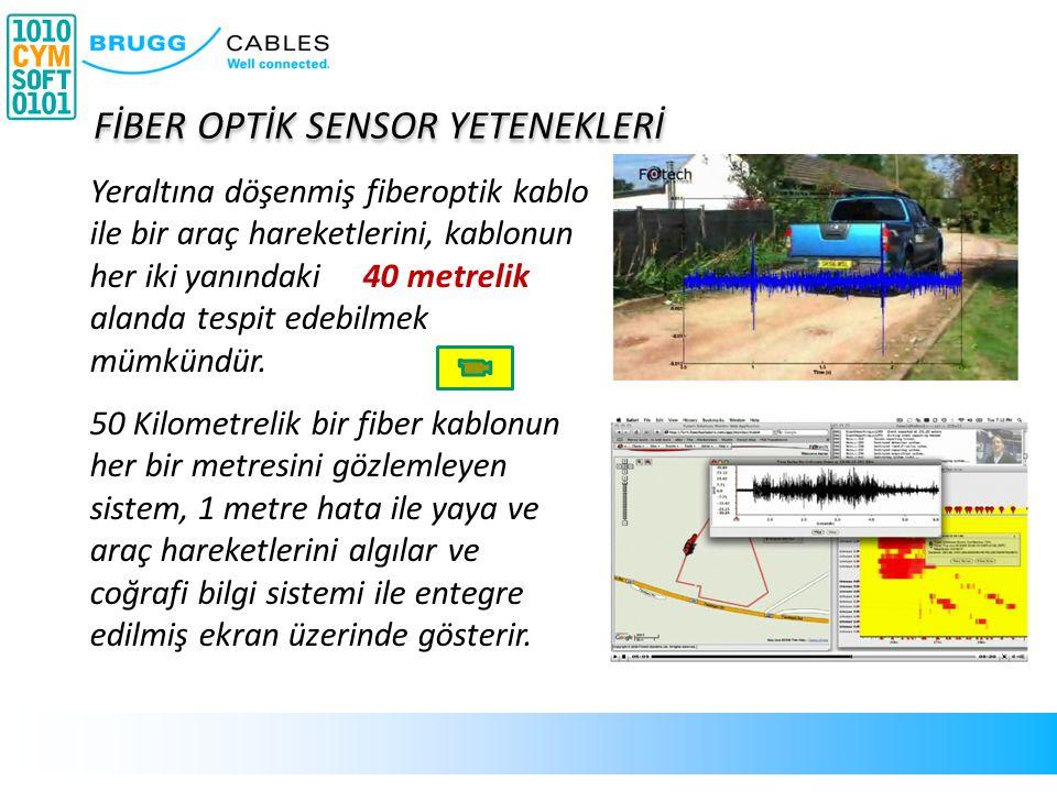 Yeraltına döşenmiş fiberoptik kablo ile bir araç hareketlerini, kablonun her iki yanındaki 40 metrelik alanda tespit edebilmek mümkündür. 50 Kilometre