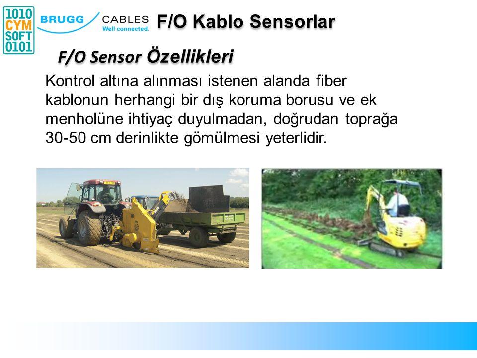 Kontrol altına alınması istenen alanda fiber kablonun herhangi bir dış koruma borusu ve ek menholüne ihtiyaç duyulmadan, doğrudan toprağa 30-50 cm der