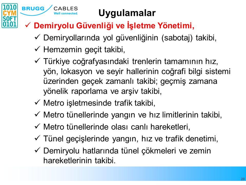 20 Demiryolu Güvenliği ve İşletme Yönetimi, Demiryollarında yol güvenliğinin (sabotaj) takibi, Hemzemin geçit takibi, Türkiye coğrafyasındaki trenleri
