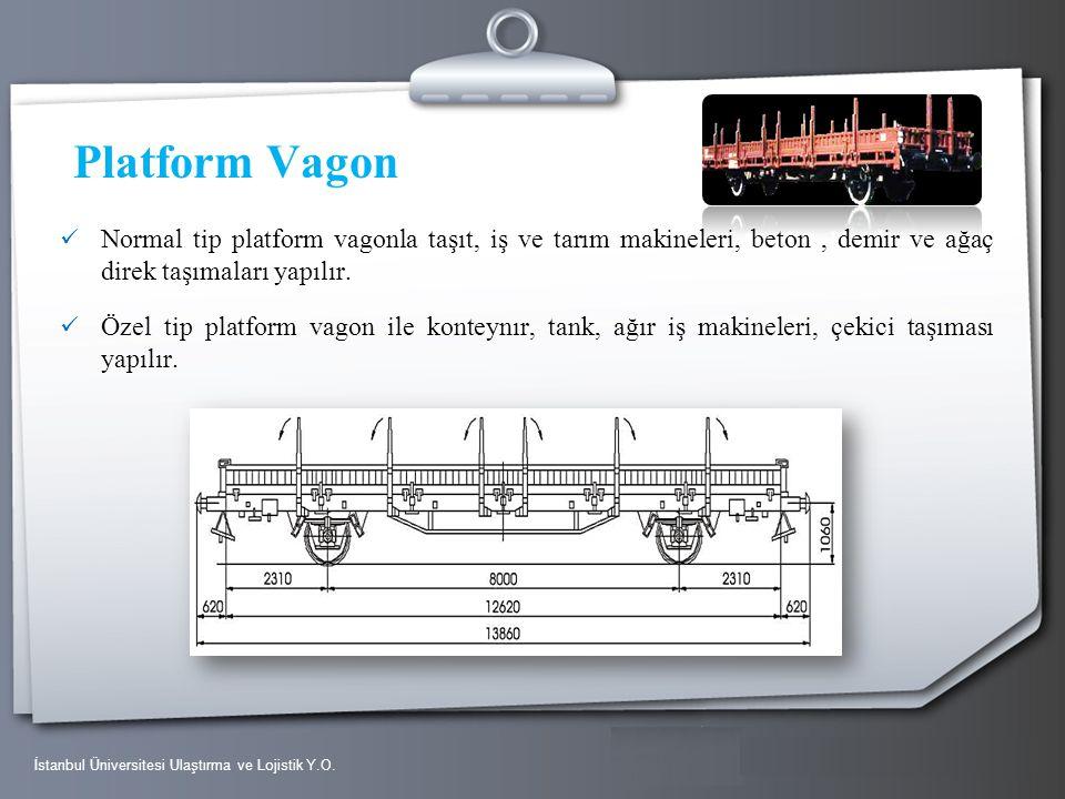 Your Logo Platform Vagon Normal tip platform vagonla taşıt, iş ve tarım makineleri, beton, demir ve ağaç direk taşımaları yapılır. Özel tip platform v