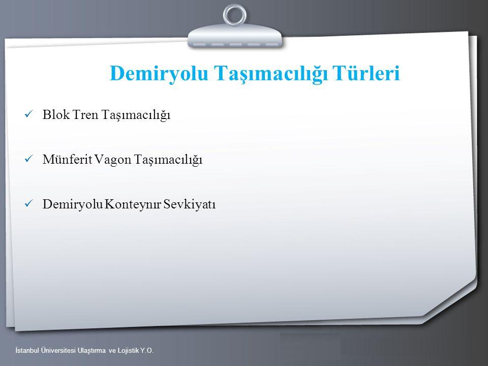 Your Logo Demiryolu Taşımacılığı Türleri Blok Tren Taşımacılığı Münferit Vagon Taşımacılığı Demiryolu Konteynır Sevkiyatı İstanbul Üniversitesi Ulaştı