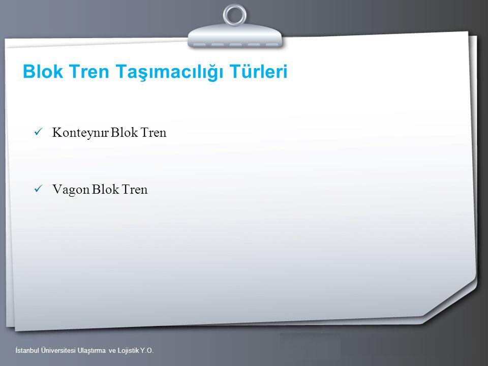 Your Logo Blok Tren Taşımacılığı Türleri Konteynır Blok Tren Vagon Blok Tren İstanbul Üniversitesi Ulaştırma ve Lojistik Y.O.