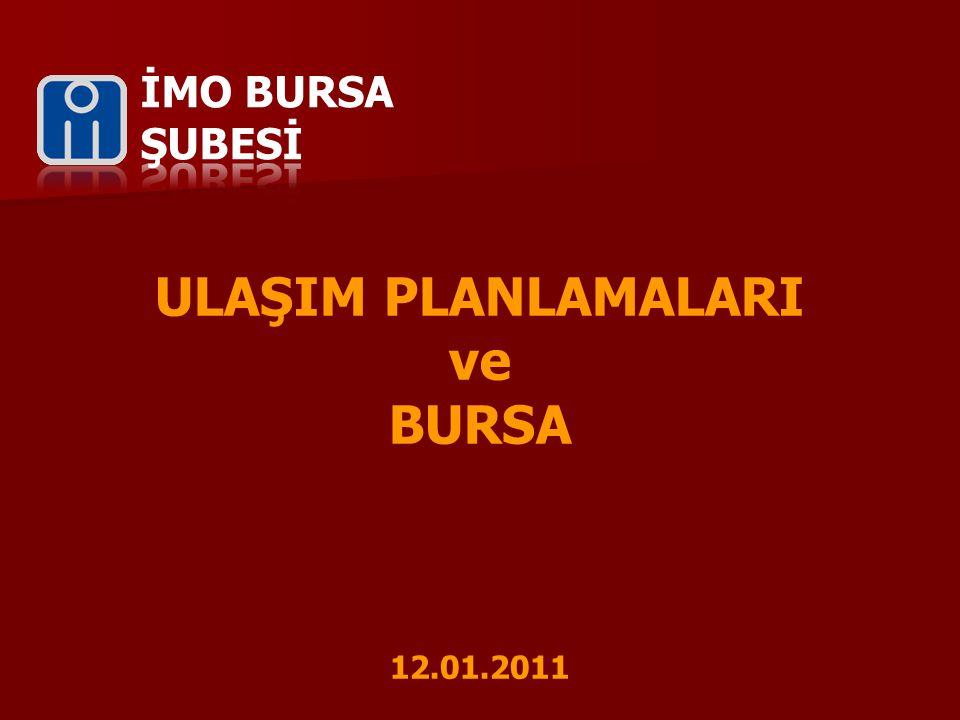 ULAŞIM PLANLAMALARI ve BURSA 12.01.2011