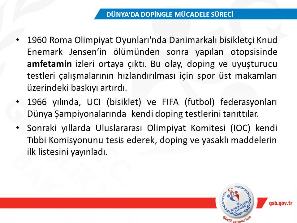 TÜRKİYE DOPİNG KONTROL MERKEZİ Gençlik ve Spor Genel Müdürlüğü ile Hacettepe Üniversitesi arasında 1989 yılında imzalanan protokol gereğince Hacettepe Üniversitesi bünyesinde TÜRKİYE DOPİNG KONTROL MERKEZİ kurulmuştur.