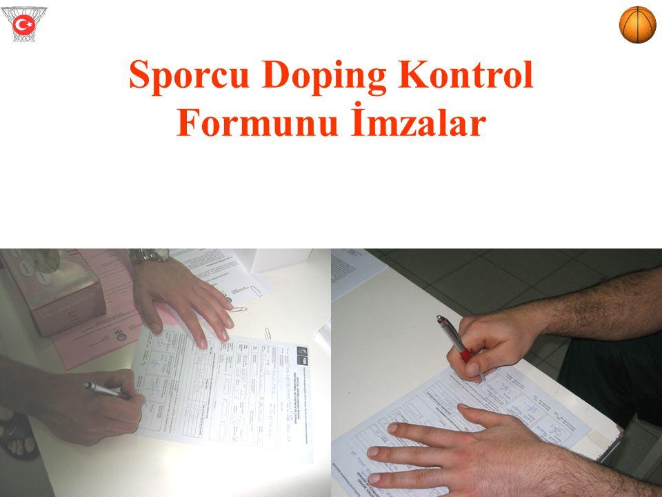 Sporcu Doping Kontrol Formunu İmzalar