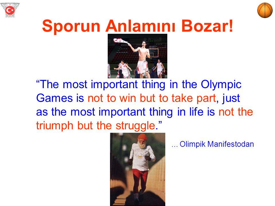 Dopingin Sonuçları? Sporcu sağlığını, Spor ruhunu & etiğini, Sporcunun kariyerini tehdit eder.