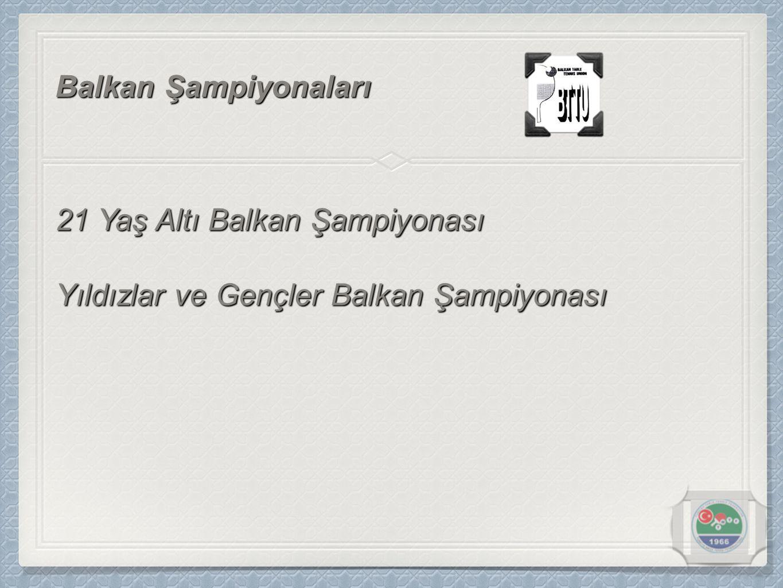 21 Yaş Altı Balkan Şampiyonası Balkan Şampiyonaları Yıldızlar ve Gençler Balkan Şampiyonası