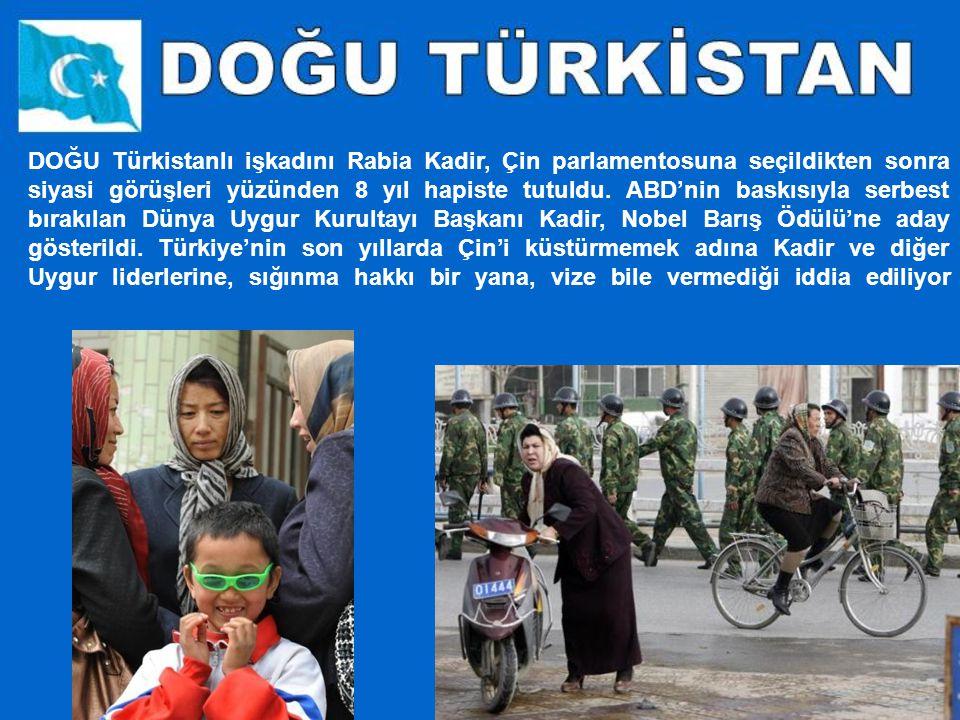 DOĞU Türkistanlı işkadını Rabia Kadir, Çin parlamentosuna seçildikten sonra siyasi görüşleri yüzünden 8 yıl hapiste tutuldu.