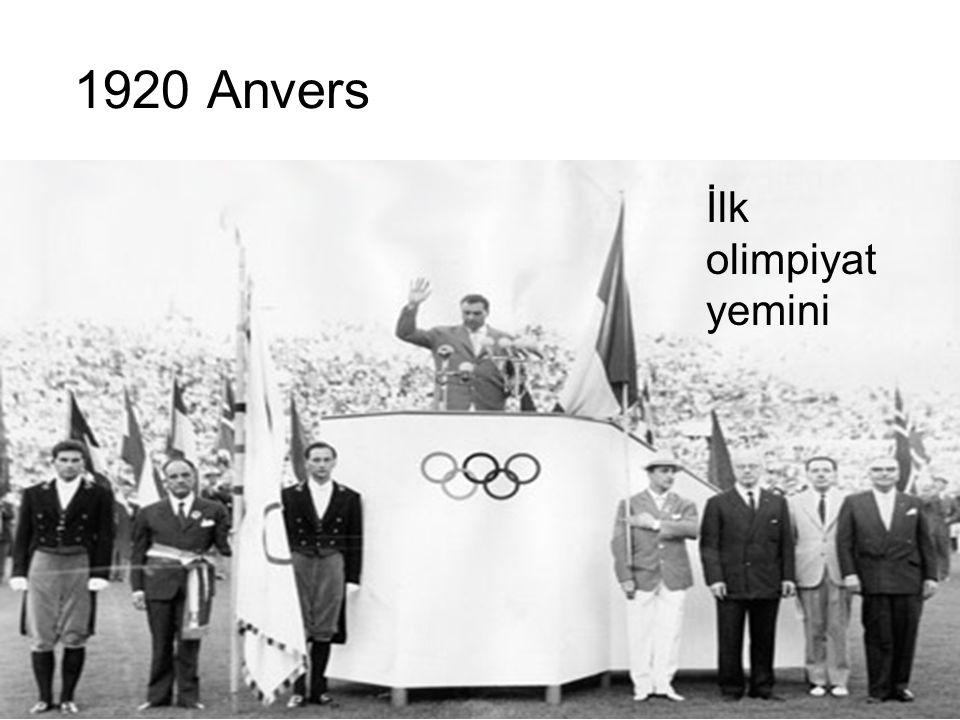 1920 Anvers İlk olimpiyat yemini