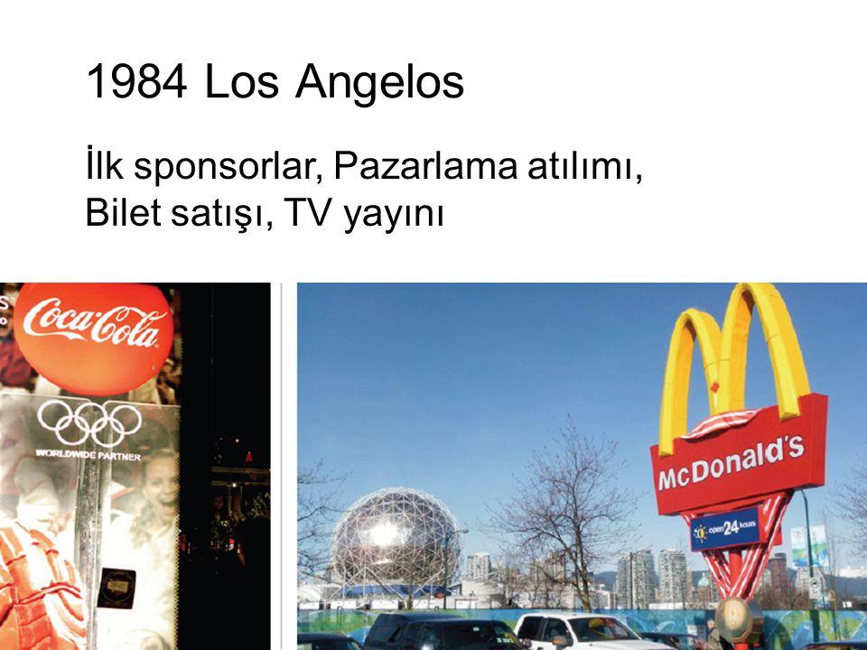 1984 Los Angelos İlk sponsorlar, Pazarlama atılımı, Bilet satışı, TV yayını