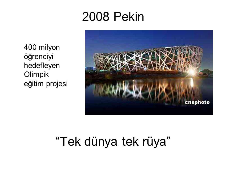 2008 Pekin Tek dünya tek rüya 400 milyon öğrenciyi hedefleyen Olimpik eğitim projesi