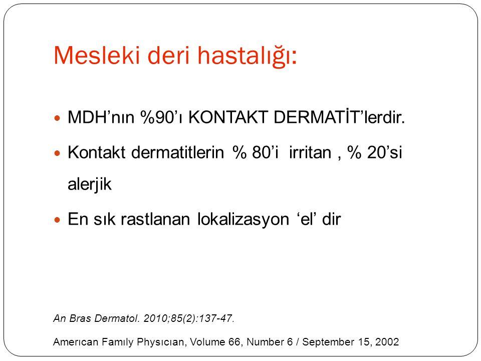 Mesleki Kontakt Dermatitlerin Tedavisi