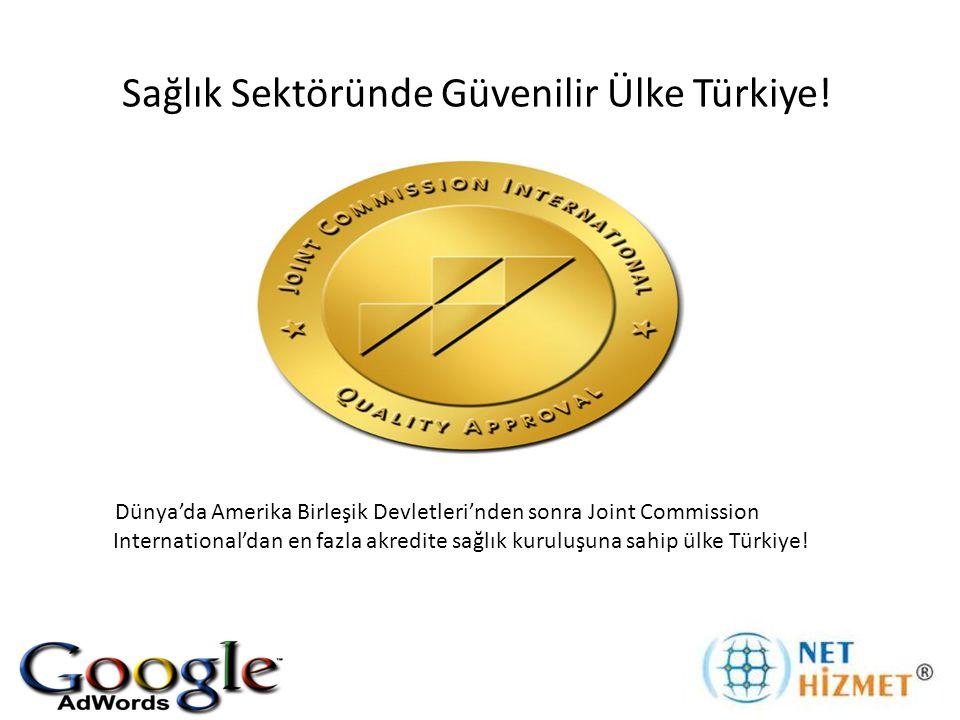 Sağlık Sektöründe Güvenilir Ülke Türkiye! Dünya'da Amerika Birleşik Devletleri'nden sonra Joint Commission International'dan en fazla akredite sağlık