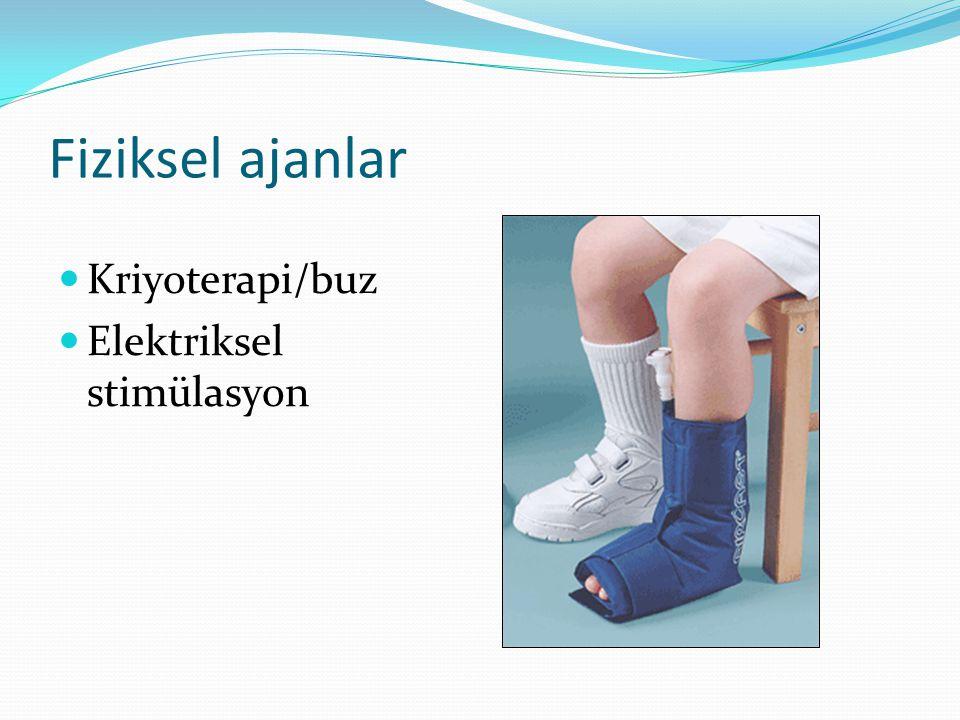 Fiziksel ajanlar Kriyoterapi/buz Elektriksel stimülasyon