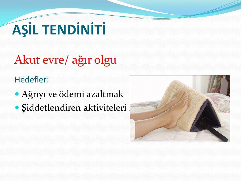 Manuel Terapi Endike durumlarda aşil tendon ve çevre dokulara nazik mobilizasyon teknikleri uygulaması