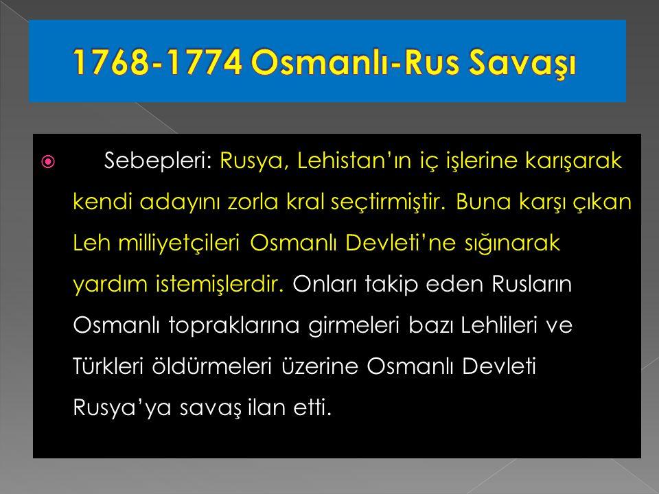  Sebepleri: Rusya, Lehistan'ın iç işlerine karışarak kendi adayını zorla kral seçtirmiştir.