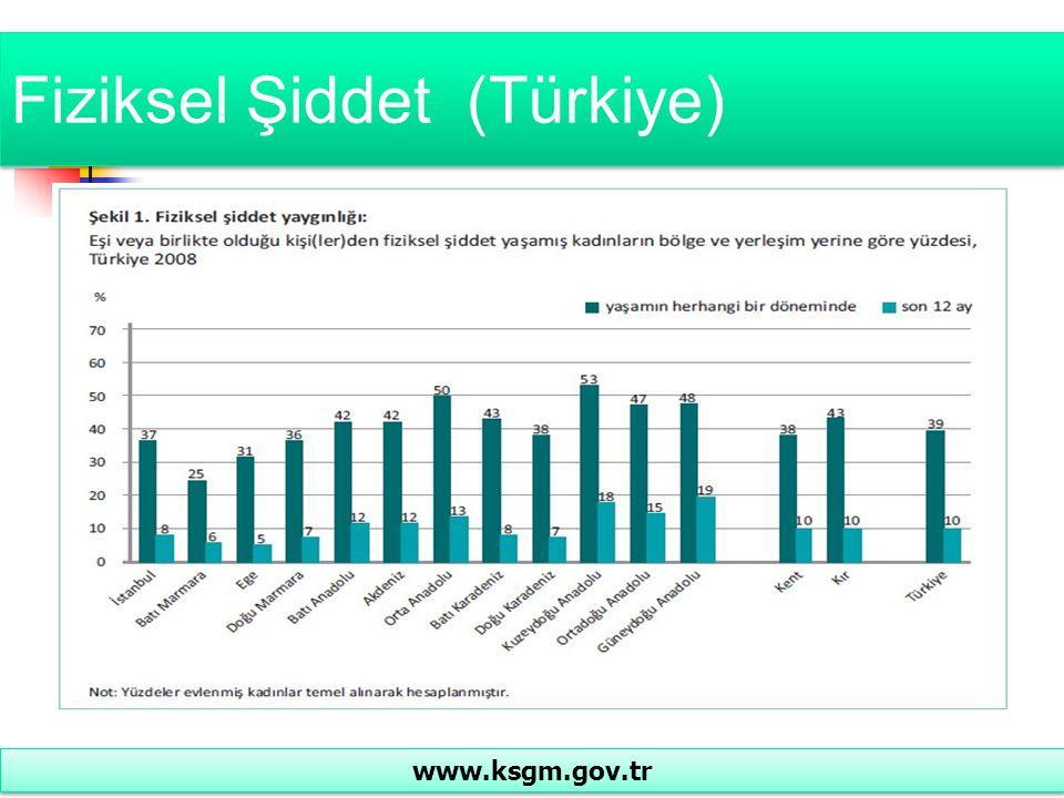 Fiziksel Şiddet (Türkiye) www.ksgm.gov.tr