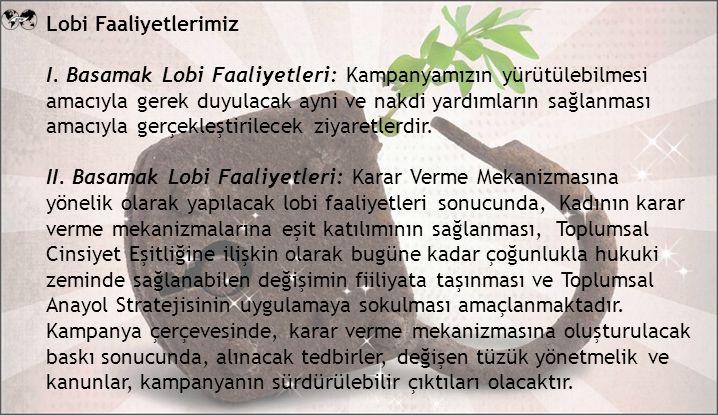Lobi Faaliyetlerimiz I.