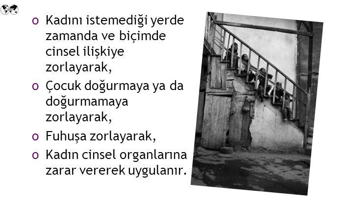 Türkiye'de her üç kadından biri fiziksel şiddet görmektedir.
