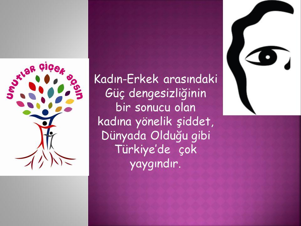 Kadın-Erkek arasındaki Güç dengesizliğinin bir sonucu olan kadına yönelik şiddet, Dünyada Olduğu gibi Türkiye'de çok yaygındır.