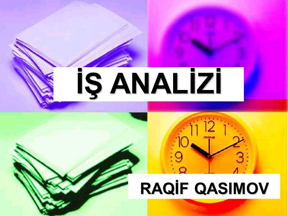 RAQİF QASIMOV İŞ ANALİZİ