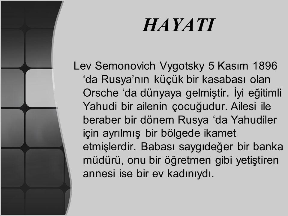 LEV VYGOTSKY SOSYAL GELİŞİM KURAMI