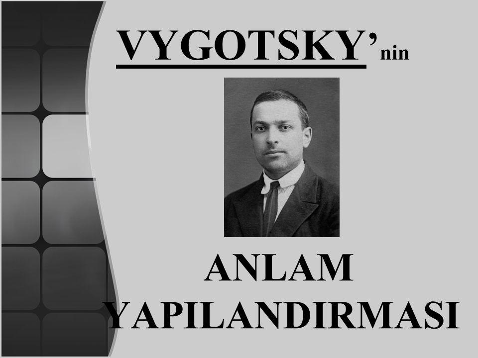 VYGOTSKY ' nin ANLAM YAPILANDIRMASI