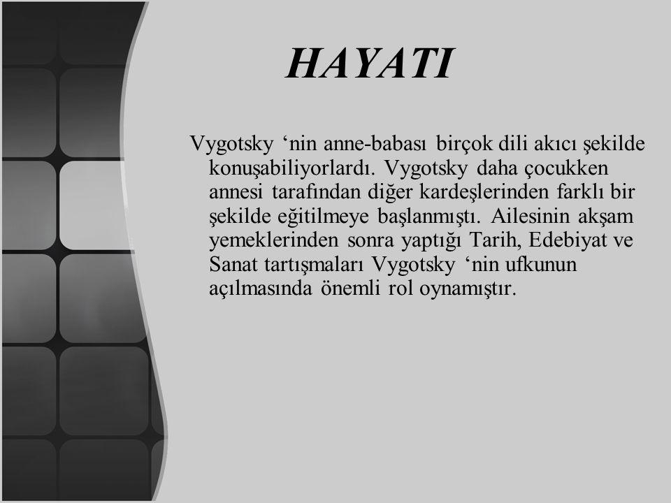 HAYATI Vygotsky 'nin anne-babası birçok dili akıcı şekilde konuşabiliyorlardı. Vygotsky daha çocukken annesi tarafından diğer kardeşlerinden farklı bi