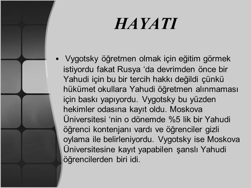 BİLİŞSEL GELİŞİM KURALI Vygotsky'nin Piaget'in kuramına karşılık olarak getirdiği en önemli düşüncede KAVRAM GELİŞİMİ ile ilgilidir.