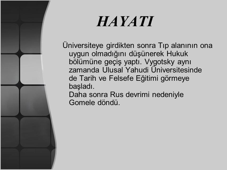 HAYATI 1924'ten sonra psikoloji, eğitim ve psikopatoloji üzerine çalışmaya başlamıştır.