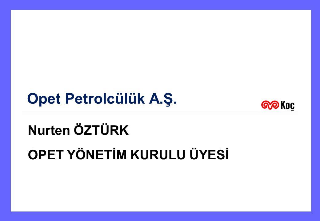Opet Petrolcülük A.Ş. Nurten ÖZTÜRK OPET YÖNETİM KURULU ÜYESİ