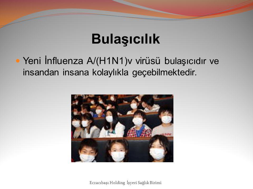 Bulaşıcılık Yeni İnfluenza A/(H1N1)v virüsü b ulaşıcıdır ve insandan insana kolaylıkla geçebilmektedir.
