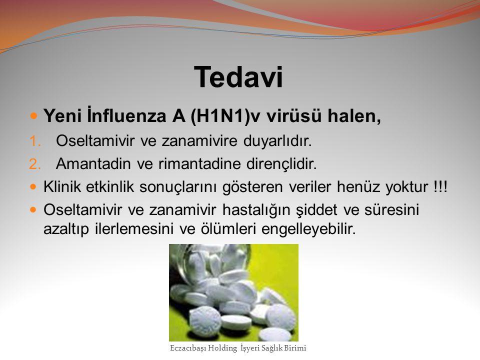 Tedavi Yeni İnfluenza A (H1N1)v virüsü halen, 1.Oseltamivir ve zanamivire duyarlıdır.