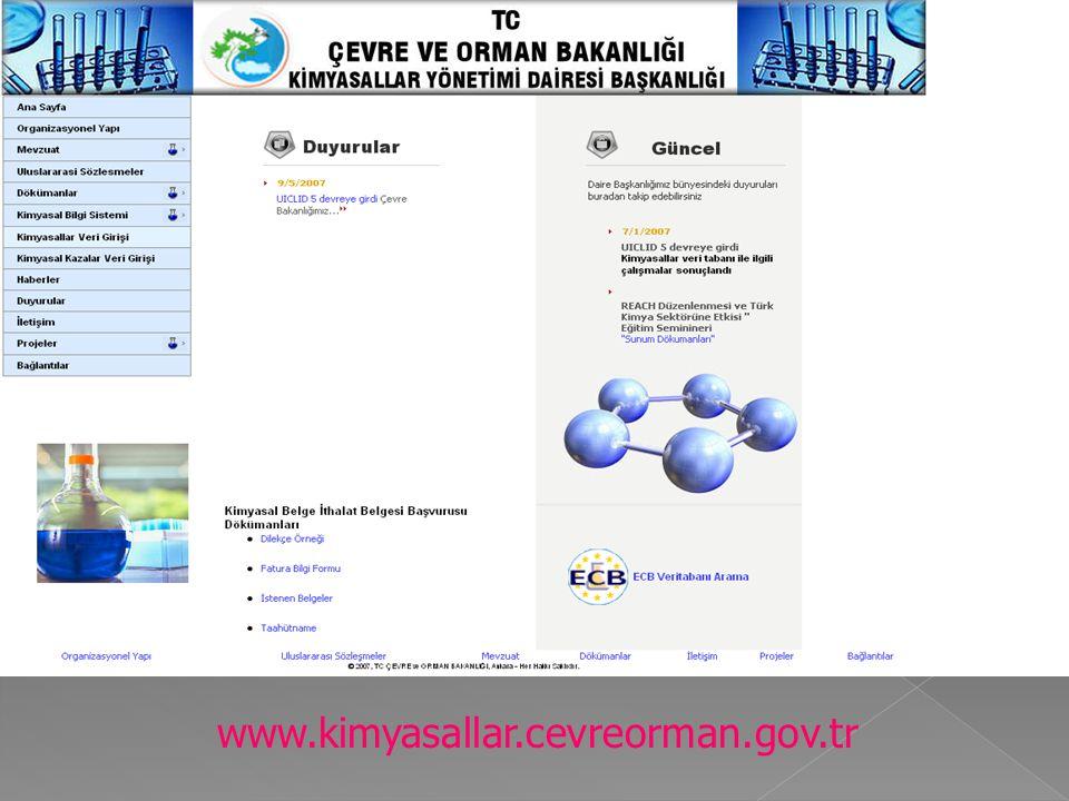 www.kimyasallar.cevreorman.gov.tr