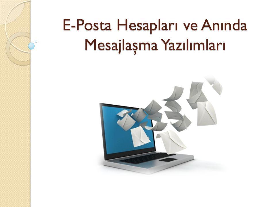 E-Posta Nedir.E-posta; günlük yaşamdaki mektubun elektronik ortamdaki karşılı ğ ıdır.