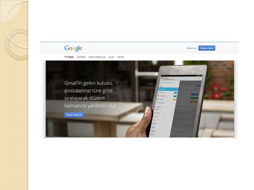 E-Posta Servisleri Windows Live Mail (Hotmail) (Outlook) Gmail Yahoo Mynet