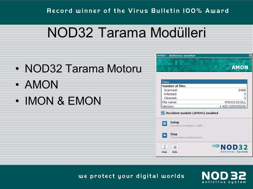 NOD32 Tarama Modülleri NOD32 Tarama Motoru AMON IMON & EMON