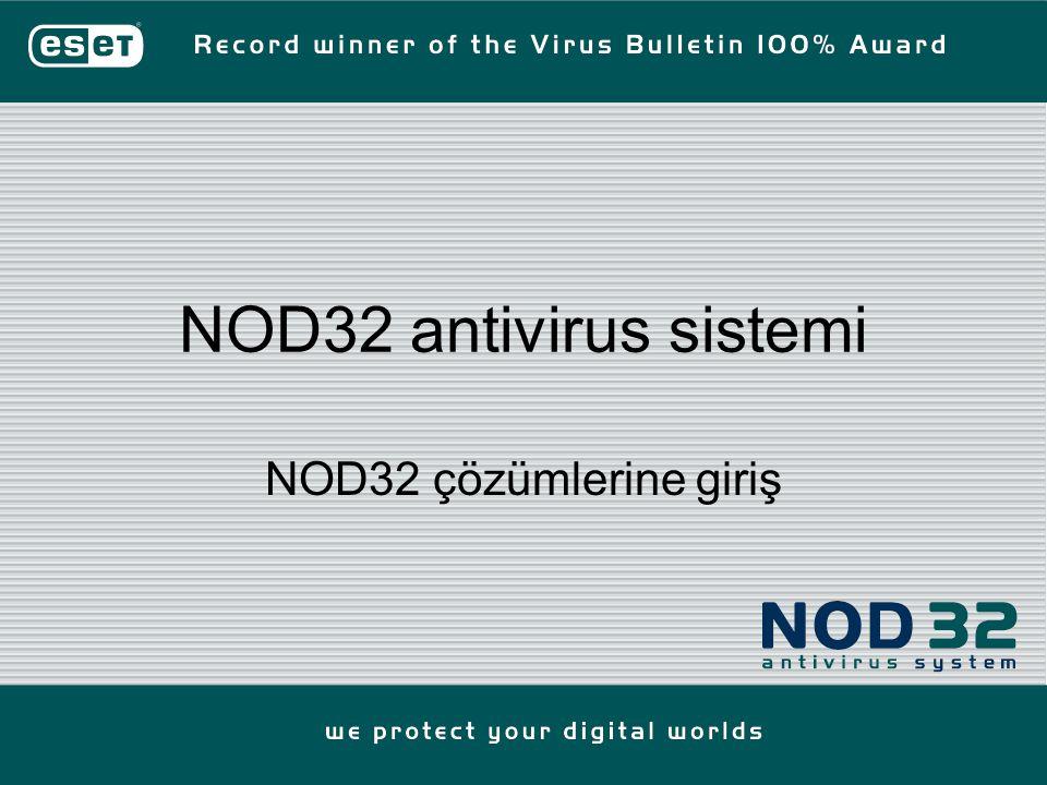 NOD32 antivirus sistemi NOD32 çözümlerine giriş